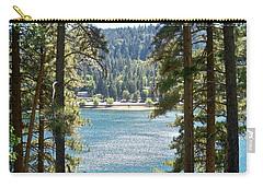 Forrest Mountain Trees Lake Scenic Photography Lake Gregory San Bernardino California - Ai P. Nilson Carry-all Pouch