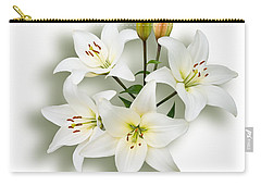 Spray Of White Lilies Carry-all Pouch by Jane McIlroy