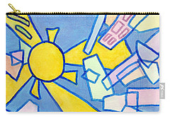 Carry-all Pouch featuring the mixed media Summer In The City #2 by Jim Whalen