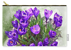 Spring Arrived - Purple Giant Crocus Carry-all Pouch