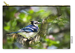 Spring Blue Jay Carry-all Pouch by Christina Rollo