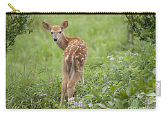 Spring Fawn Carry-all Pouch by Jeannette Hunt