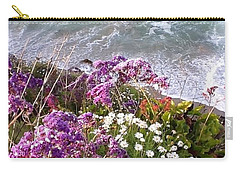 Carry-all Pouch featuring the photograph Spring Greets Waves by Susan Garren