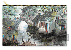 Carry-all Pouch featuring the photograph Spring In Watertown by Yufeng Wang