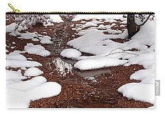 Carry-all Pouch featuring the photograph Spring Into Winter by Kerri Mortenson