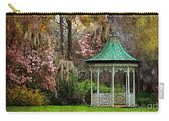 Spring Magnolia Garden At Magnolia Plantation Carry-all Pouch by Kathy Baccari