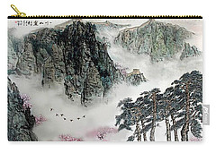 Carry-all Pouch featuring the photograph Spring Mountains And The Great Wall by Yufeng Wang