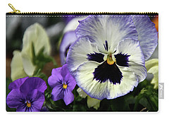 Spring Pansy Flower Carry-all Pouch by Ed  Riche