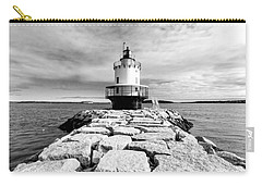 Spring Point Ledge Light In Black And White Carry-all Pouch