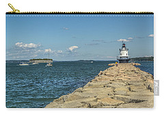 Carry-all Pouch featuring the photograph Spring Point Ledge Lighthouse by Jane Luxton