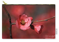 Spring Richness - Flowering Quince Carry-all Pouch by Joy Watson