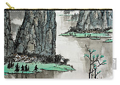 Carry-all Pouch featuring the photograph Spring River by Yufeng Wang