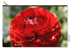 Spring Scarlet Double Begonia Carry-all Pouch
