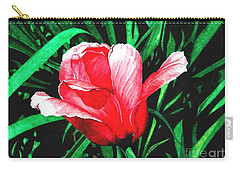 Carry-all Pouch featuring the painting Spring Solo by Barbara Jewell