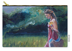 Carry-all Pouch featuring the painting Spring Stroll by Donna Tuten