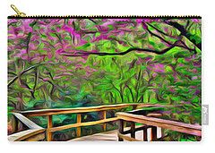 Spring Walk - Paint Rendering Carry-all Pouch