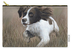 Springer Spaniel Painting Carry-all Pouch by Rachel Stribbling