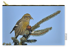Spruce Cone Feeder Carry-all Pouch by Tony Beck