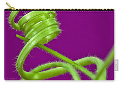 Carry-all Pouch featuring the photograph Squash Tendril Macro by Sandra Foster