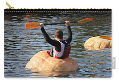 Carry-all Pouch featuring the photograph The Great Pumpkin Race by Aaron Berg