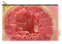 Squeezed Pink Grapefruit In Front Of Citrus Squeezer Carry-all Pouch