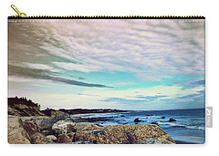 Squibby Cliffs And Mackerel Sky Carry-all Pouch by Kathy Barney