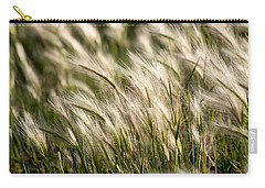 Carry-all Pouch featuring the photograph Squirrel Grass by Fran Riley