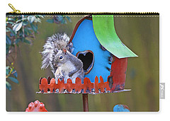 Squirrel Loves New Hang Out Carry-all Pouch by Luana K Perez