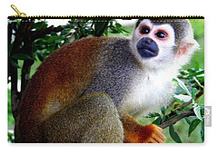 Carry-all Pouch featuring the photograph Squirrel Monkey by Laurel Talabere