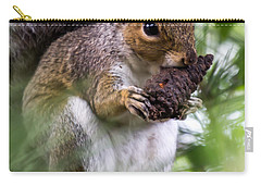 Squirrel With Pine Cone Carry-all Pouch