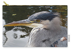 Carry-all Pouch featuring the photograph Sr Heron  by Cheryl Hoyle