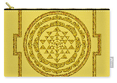 Sri Yantra In Gold Carry-all Pouch