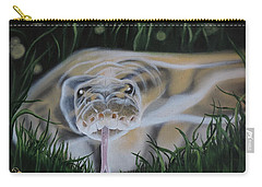 Carry-all Pouch featuring the painting Ssssmantha by Dianna Lewis