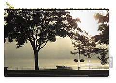 Carry-all Pouch featuring the photograph St. Clair Sunrise With Fog by Mary Bedy