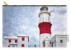 Carry-all Pouch featuring the photograph St. David's Lighthouse by Verena Matthew