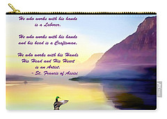 St Francis Of Assisi Quotation Carry-all Pouch