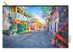 St George Street St Augustine Florida Painted Carry-all Pouch