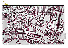 St. George - Woodcut Carry-all Pouch