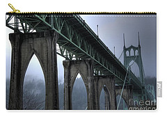 St Johns Bridge Oregon Carry-all Pouch by Bob Christopher