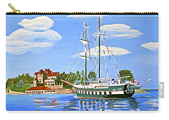 Carry-all Pouch featuring the painting St Lawrence Waterway 1000 Islands by Phyllis Kaltenbach
