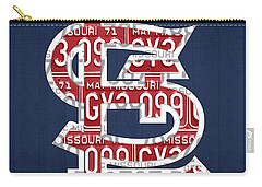 St. Louis Cardinals Baseball Vintage Logo License Plate Art Carry-all Pouch by Design Turnpike