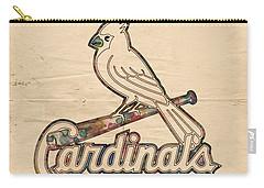St Louis Cardinals Poster Vintage Carry-all Pouch by Florian Rodarte
