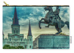 St. Louis Cathedral And Andrew Jackson- Artistic Carry-all Pouch