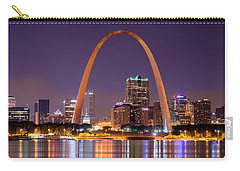 St. Louis Skyline At Night Gateway Arch Color Panorama Missouri Carry-all Pouch