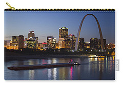 St Louis Skyline With Barges Carry-all Pouch