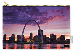 St Louis Sunset Carry-all Pouch