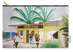 St. Lucia Store Carry-all Pouch by Frank Hunter