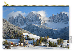 St. Magdalena Village In The Snow In Winter Carry-all Pouch by IPics Photography
