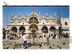 Carry-all Pouch featuring the photograph St. Mark's Basilica  by Allen Beatty