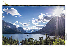 St. Mary Lake Carry-all Pouch by Aaron Aldrich